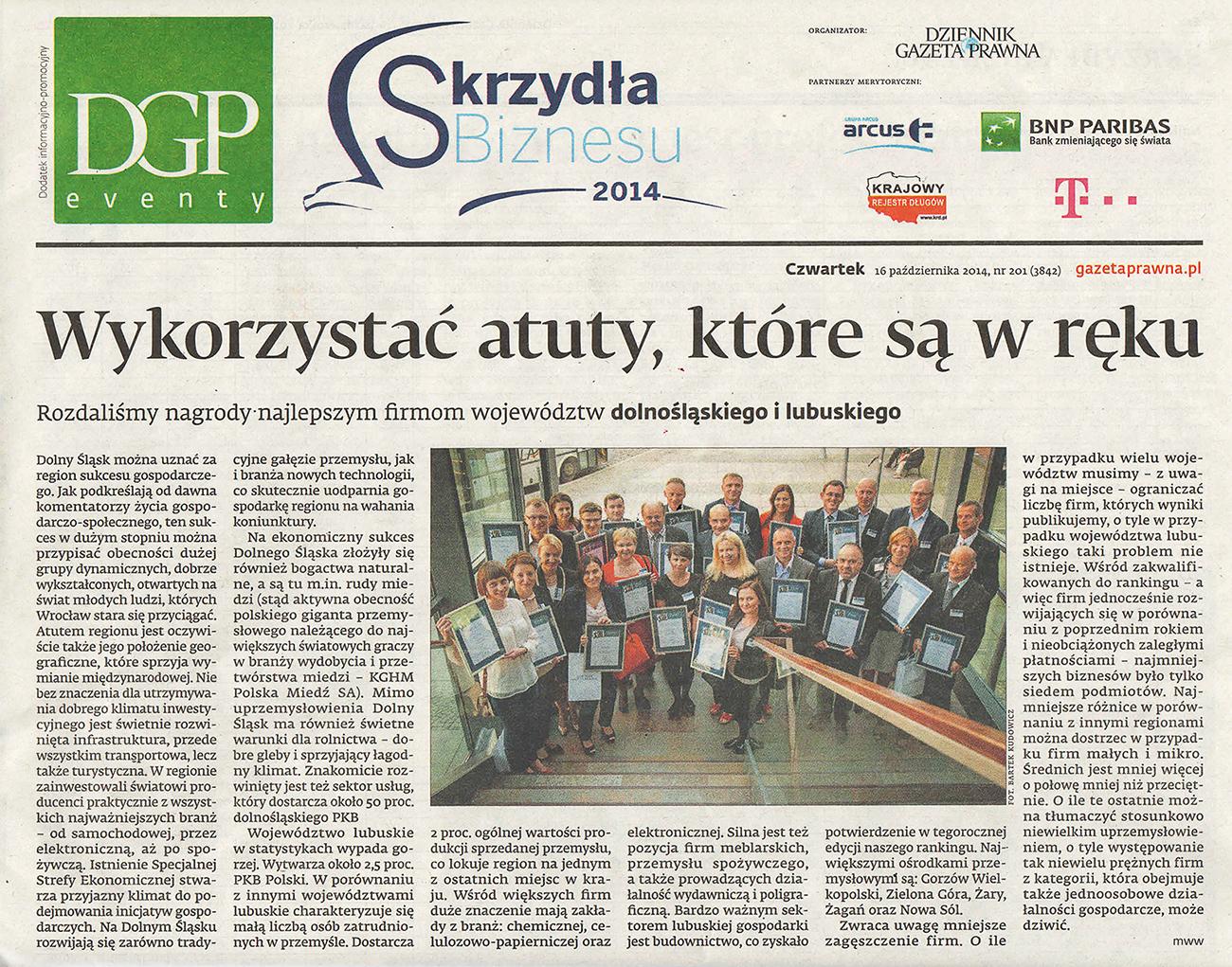 Dziennik Gazeta Prawna 16.10.2014