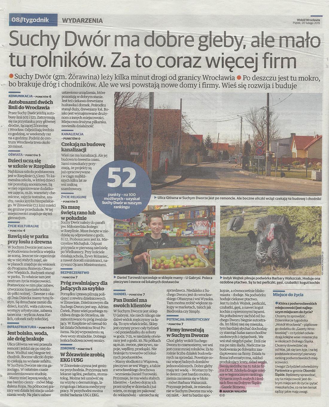 Gazeta Wrocławska 20.02.2015
