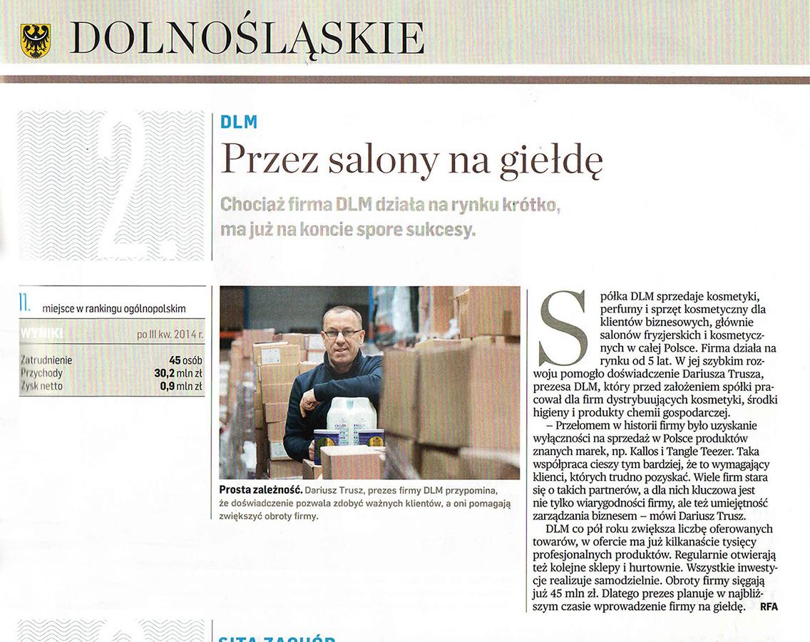 Puls Biznesu - Gazele Biznesu 2014