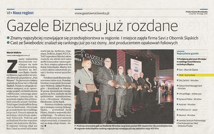 Gazeta Wrocławska 19.02.2015